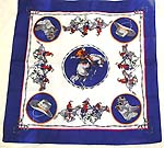 Blue edge with legendary running horse troop pattern design fashion cotton bandana