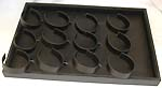 12 section tray leatherette display, CAD be used to display bracelet, necklace and pendant
