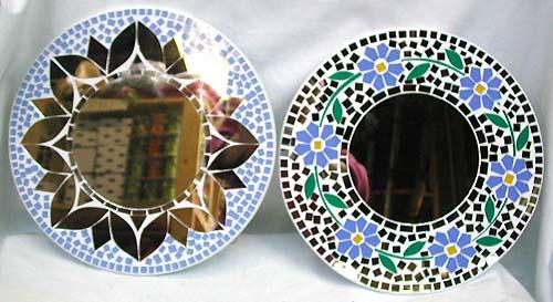 Mosaic mirror designs images for Miroir mosaique design