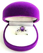 purple velvet geomatric shape jewelry gift box for ring