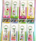 Assorted color and design transparent key chain