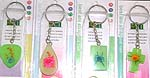 Assorted color and design key chain with mini bells