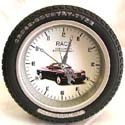 Assorted car wheel design fashion clock with stand