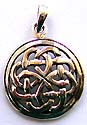 Cut-out Celtic twisted knot in circle pattern sterling silver pendant