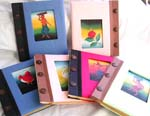 Handmade photo album with button, assorted color and pattern design, randomly pick by our warehouse staffs