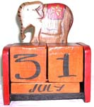 Indonesia elephant wooden calender