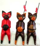 Wooden fishing cat table decor, assorted color randomly pick by our staffs