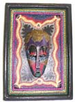 Batik wooden face plaque, assorted color and design randomly pick