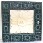 Square flower carving stone plaque, assorted design randomly pick