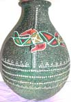 Hand painting stone vase, assorted color and pattern randomly pick