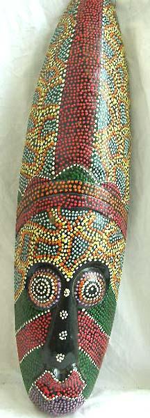 wholesale mask bali thousand dots design batik painting