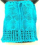 Summer aquarium crochet top with filigree flower and square pattern design