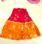 Assorted color crinkle summer long lady's skirt