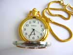 Two-tone color pocket watch with DAD words