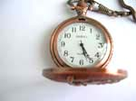 Fashion copper pocket watch with freedom lady on cover