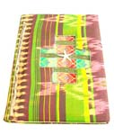 Handmade fashion notebook with rope and fabric cover, made of natural banana leaf, mulberry papers, recycling paper etc.