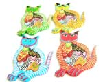 Assorted color cat puzzle with 5 baby kitten in tummy