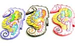 Assorted color mother seahorse with 6 baby seahorse in tummy