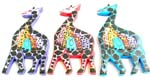 Assorted color mother giraffe with 5 baby giraffe in tummy