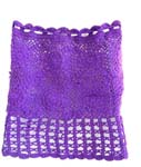 Summer purple crochet top with filigree flower and square pattern design