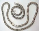 Handcrafted 925. sterling silver chain necklace and bracelet set