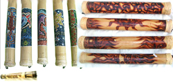 Assorted Painting Rainstick, Fire Burned Patter Rainstick, Engraved Pattern Rainsick