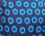 Blue sunflower design in black background color